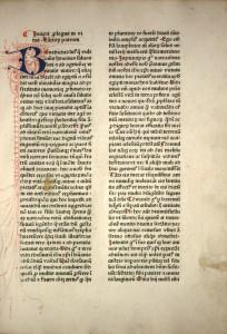 Prologue de l'édition de Bartholomäus von Unckel à Cologne (vers 1480) (Cologne, inc. GB IV 3902)