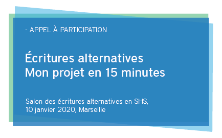 Le premier salon des écritures alternatives en sciences humaines et sociales (archives)