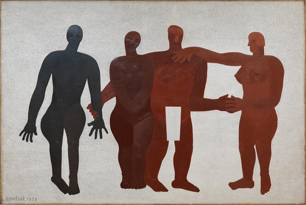 Amédée Ozenfant, Les quatre races, 1928, Huile sur toile, 332 x 500 cm. © Philippe Migeat – Centre Pompidou, MNAM-CCI /Dist. RMN-GP. © Adagp, Paris.