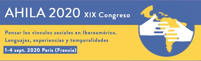 AHILA 2020 Paris: Simposio nº15 – Ser indígena en la América Latina de los siglos XIX y XX
