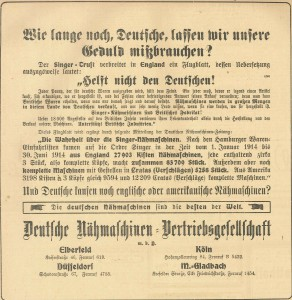 3.6.1915 Werbung