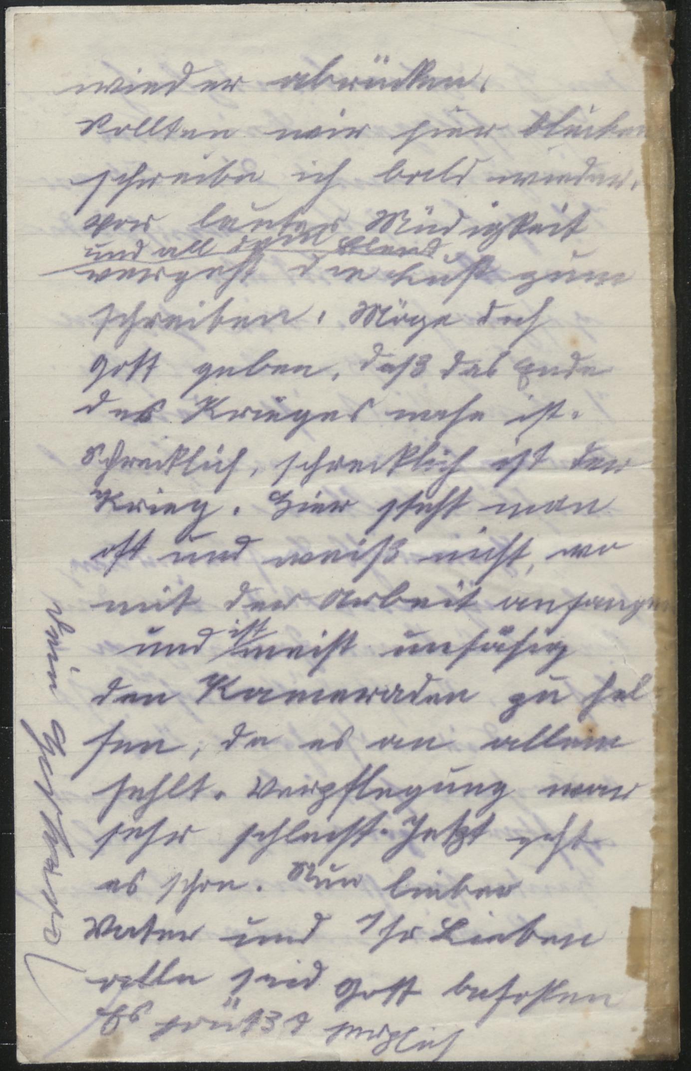 Brief an Liebhaber, der gegangen ist