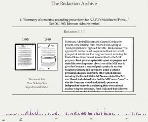 Capture d'écran de la Redaction Archive