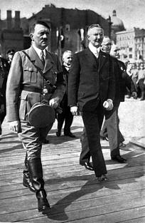 Hitler et Schacht pour l'inauguration des travaux du nouveau bâtiment de la Reichsbank