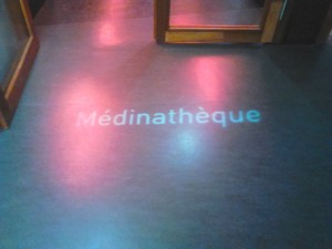 Signalétique lumineuse de la Médinathèque. Copyright: S.E. LOUIS
