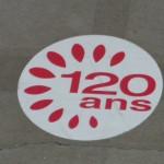 Exposition Gaumont 120 ans - Marque au sol,  détail - © Nicolas Schmidt IHTP-CNRS