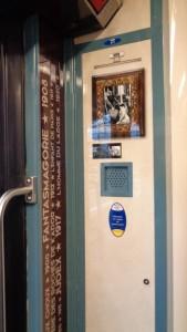 Gaumont, SNCF et le STIF célèbrent ensemble les 120 ans du cinéma – Porte décoration © IHTP – CNRS