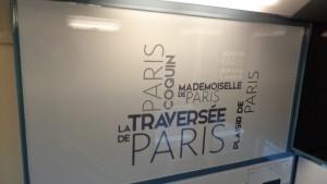 """Gaumont, SNCF et le STIF célèbrent ensemble les 120 ans du cinéma - Titres avec """"Paris"""" © IHTP – CNRS"""
