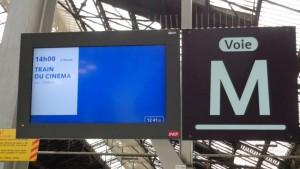 Gaumont, SNCF et le STIF célèbrent ensemble les 120 ans du cinéma - RER Gare de Lyon © IHTP - CNRS