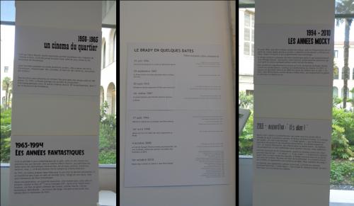 Exposition « Le Brady 60 ans de projections » Brady en dates - © IHTP-CNRS-PARIS8