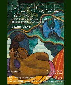 Affiche de l'exposition Mexique 1900-1950