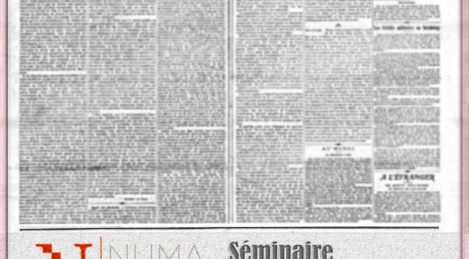 Séminaire «Roman-Feuilleton»