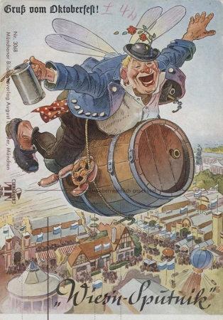 Postkarte zum Oktoberfest 1961