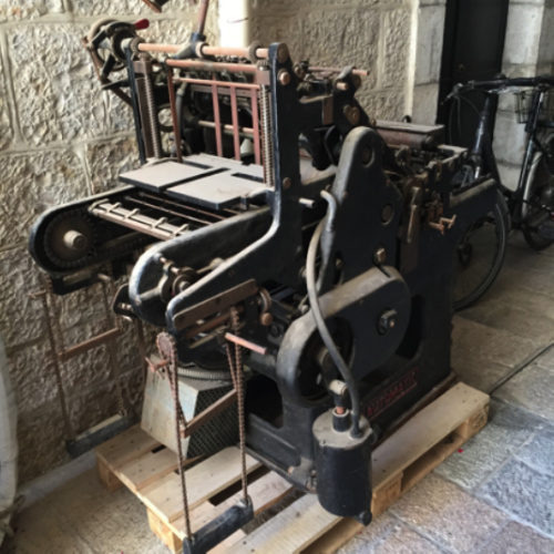 Picture 6. Printing press machine, 1860 (Saint Saviour's Convent)