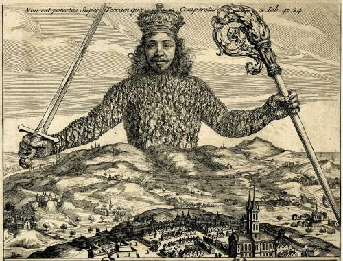 Le frontispice du Léviathan de Thomas Hobbes (1651)