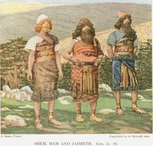 Shem, Ham and Japheth
