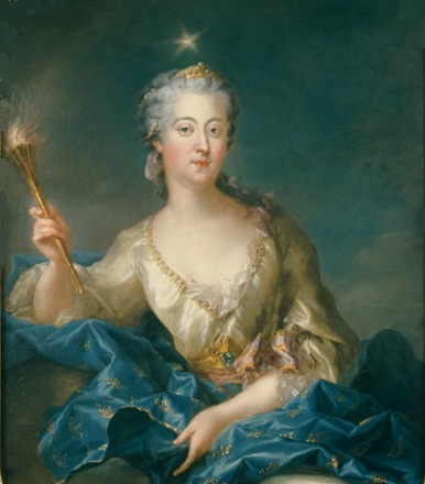 Ulrika of Prussia as Aurora, by François- Adrien Latinville, 1747 or 1748. (source: Wikimedia commons).