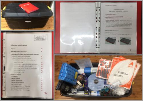 Notfallmappe und Notfallbox im Archiv des Schottenstifts
