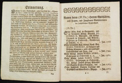 StiA 05.Pfarr Scho 6/06.07. Mitgliederkatalog der Bruderschaft von den sieben Schmerzen Mariä (1770).