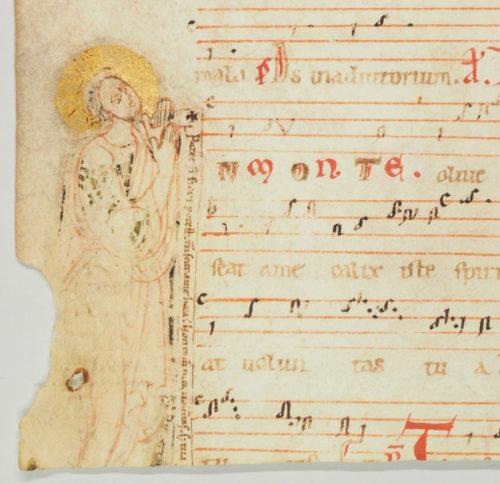 Fragm. liturg. 8: Fragment eines Antiphonars, Gesang für Gründonnerstag (12. Jh.)