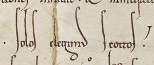 Urk 1161-04-21.1. Herzog Heinrich II.: Stiftungsurkunde des Schottenklosters (erste Fassung, Ausschnitt).