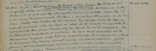 Stiftschronik, 30. Oktober 1918