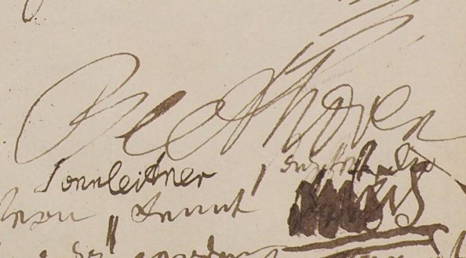 Zwei Autographe Ludwig van Beethovens