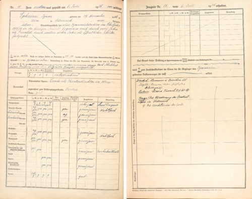 Hauptprotokoll über den Jahresabschluss der 8.Klasse und die Reifeprüfungen, Schuljahr 1925/26 (6.Juli 1926).