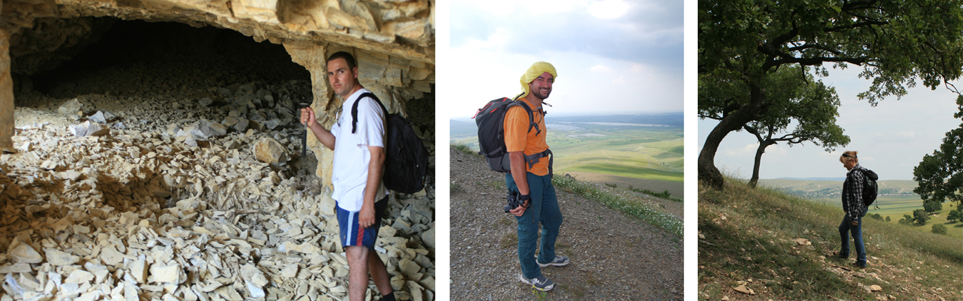 Florian Mihail, Robin Furestier et Laurence Manolakakis sur le terrain