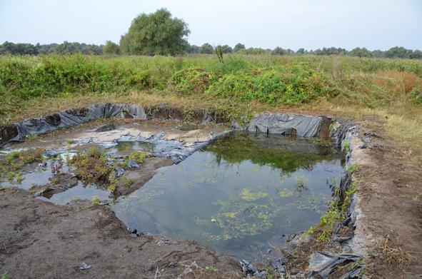 Le site chalcolithique de Taraschina, partiellement inondé (octobre 2014)