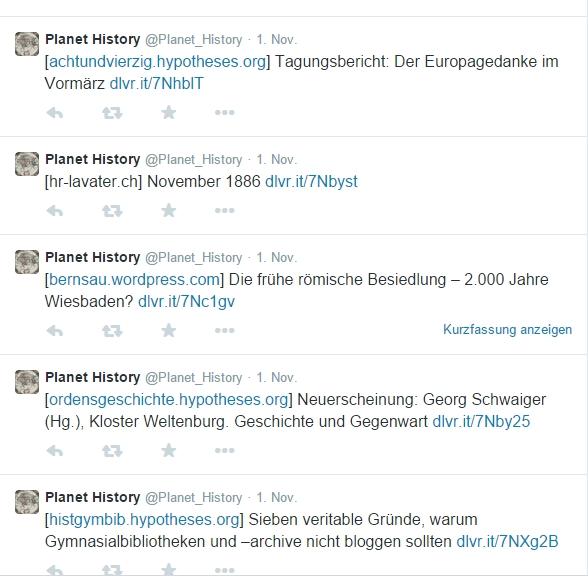 Twitter Planet History Screenshot