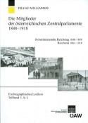 """Cover """"Die Mitglieder der österreichischen Zentralparlamente"""""""