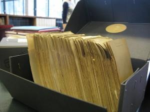 casier du fichier d'Henri Hubert. © Jf Bert
