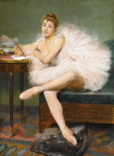 La tenue la plus confortable pour publier avec classe! (Pierre Carrier-Belleuse danseuse écrivant, fin du 19e siècle. @WikiCommons. www.AndreaFisherFineArt.com)