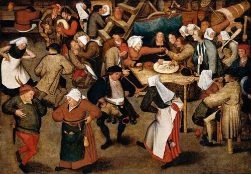 Pieter Brueghel le jeune, The Wedding Dance in a Barn, vers 1616, collection particulière (image: Web Gallery of Art @WikiCommons )