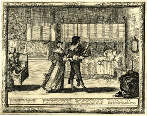 Abraham Bosse, Pharmacien préparant un remède pour un malade, 1632-1635 @WikiCommons @LiveJournal