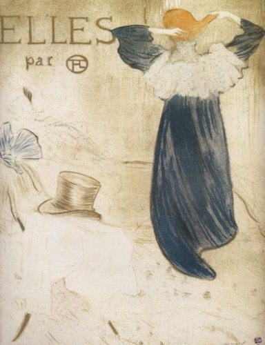 Toulouse-Lautrec, couverture de l'album _Elles_, 1896