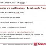 Extrait d'un tutorat de blog de médiation scientifique - Etudiants de Sciences Po Paris, 2012