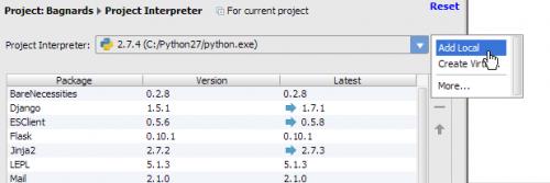 Création d'un interpréteur Python dans PyCharm