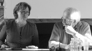"""""""Materielle Mediationen/Médiations matérielles"""": Eine deutsch-französische Tagung zu Materialitäten in Künsten, Literaturen und Kulturen. (Bild: Andrea von Hülsen-Esch und Alain Schnapp / © Miriam Leopold)"""