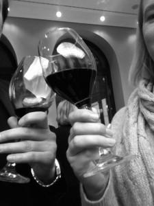 Beim Wein mit Bernhard Schlink. Wir repräsentatieren das Grako bei der Meyer-Struckmann-Preisverleihung am 19. 11.2014