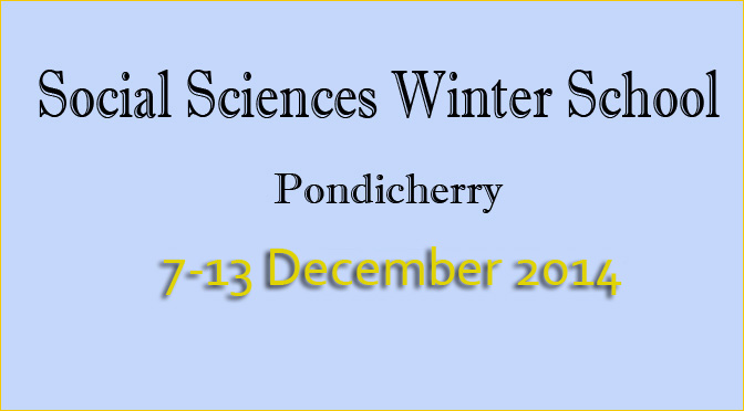 Selected students per workshop for Social Sciences Winter School 2014