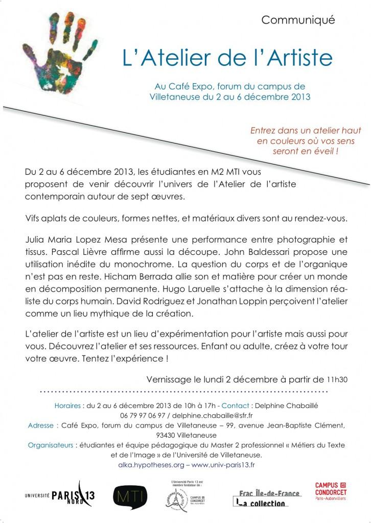 2 au 9 décembre Café Expo Université Paris 13 - Villetaneuse