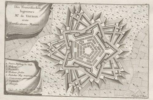Sogenannte Erste Manier Vaubans. Quelle: Württembergische Landesbibliothek Stuttgart, Sammlung Nicolai.