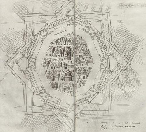 Flankierende Schussfelder einer italienischen Festung. Quelle: Württembergische Landesbibliothek Stuttgart, Sammlung Nicolai.