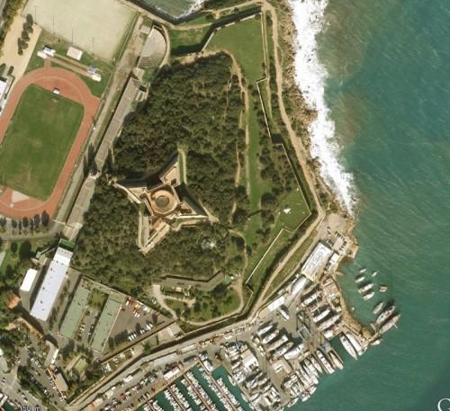 Antibes, Fort Carre - erstellt mit Google Earth