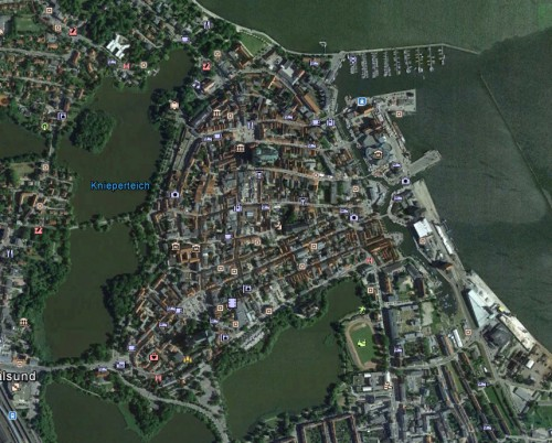 Stralsund Stadt - Erstellt mit Google Earth