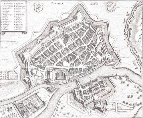 Kassel; Merian 1648.