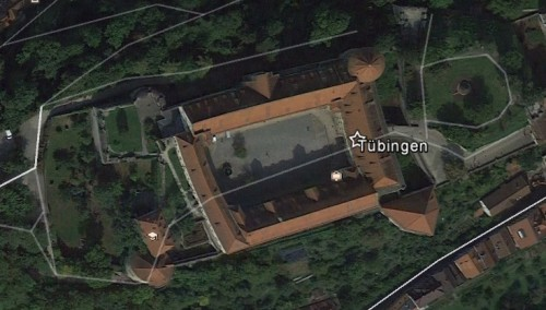Hohentübingen. Quelle: Google Earth.