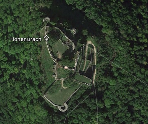 Hohenurach. Quelle: Google Earth.